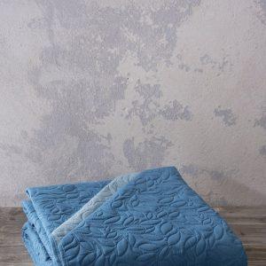 ΚΟΥΒΕΡΛΙ ΜΟΝΟ 160X240 NIMA HOME FOGLIE BLUE/PETROL